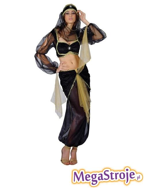 Kostium Arabska Tancerka czarno-złota