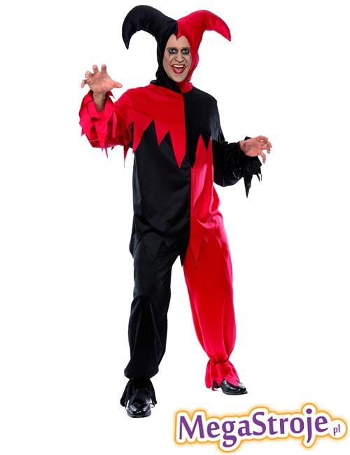 Kostium Błazen czerwono-czarny