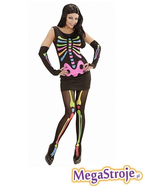 Kostium damski Neonowy Szkielet