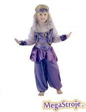Kostium dziecięcy Arabska Tancerka fioletowa