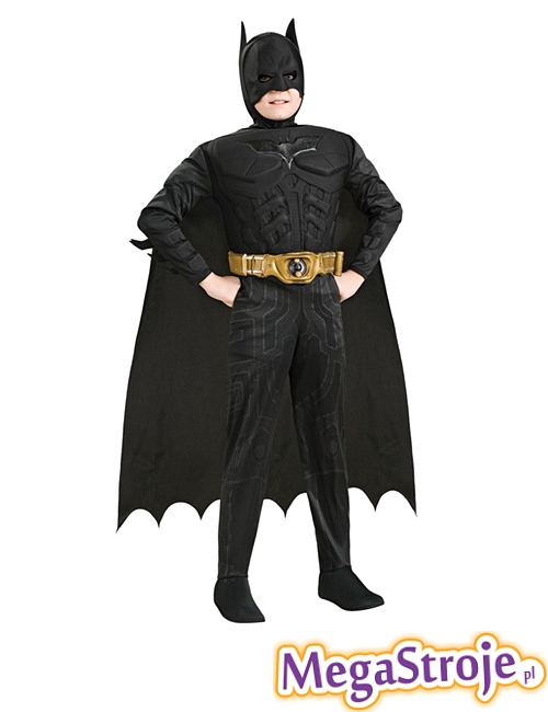 Kostium dziecięcy Batman czarny deluxe
