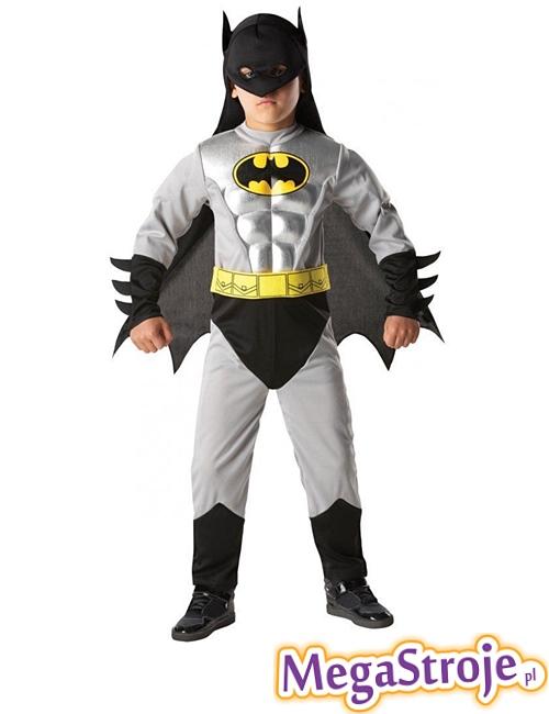 Kostium dziecięcy Batman szary deluxe