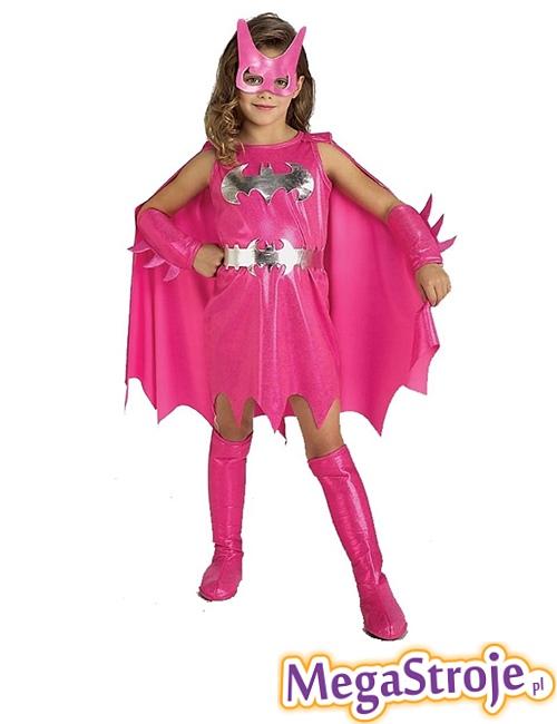 Kostium dziecięcy Batgirl różowy