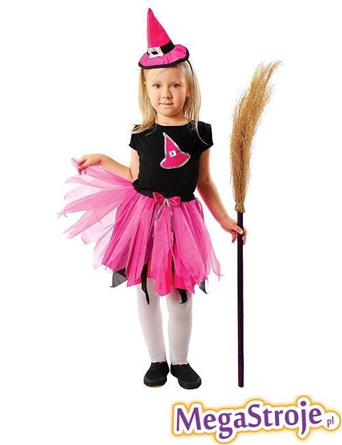 Kostium dziecięcy Czarownica różowa