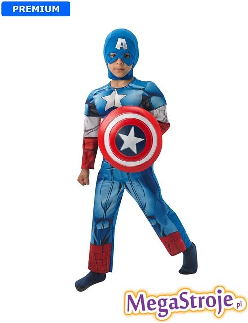 Kostium dziecięcy Kapitan Ameryka deuxe