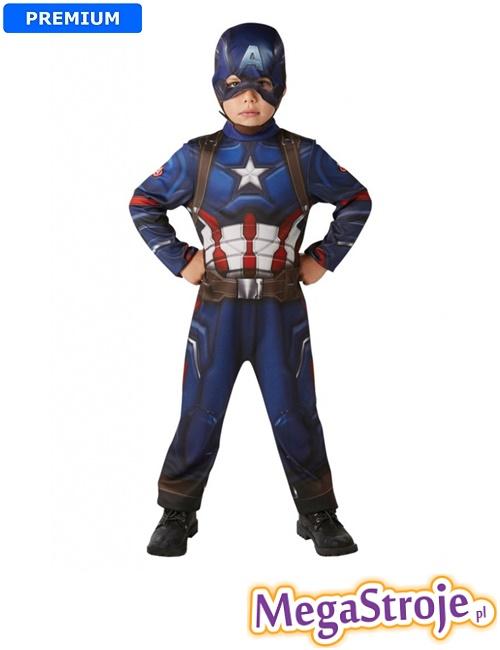Kostium dziecięcy Kapitan Ameryka lux