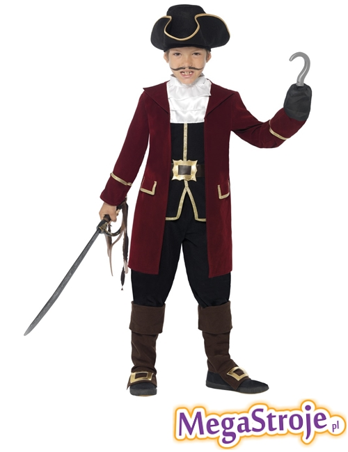 Kostium dziecięcy Kapitan Piratów deluxe