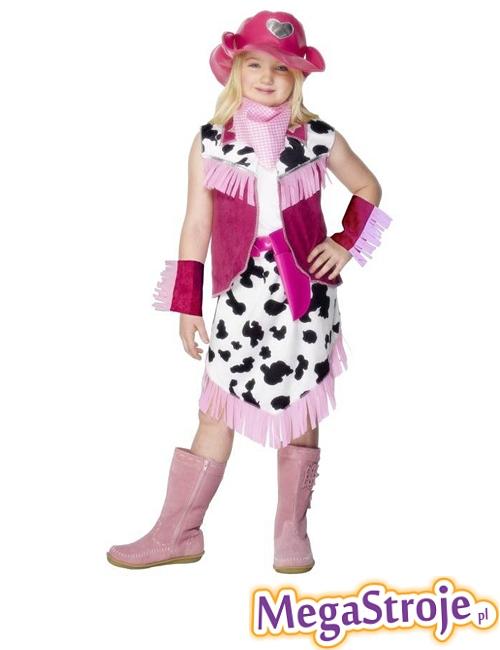 Kostium dziecięcy Kowbojki różowy