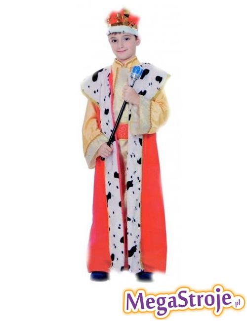Kostium dziecięcy Król złoto-czerwony