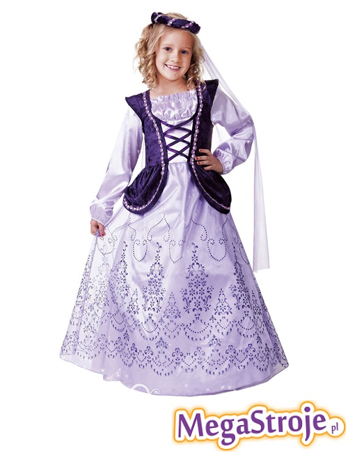 Kostium dziecięcy Królewna fioletowa