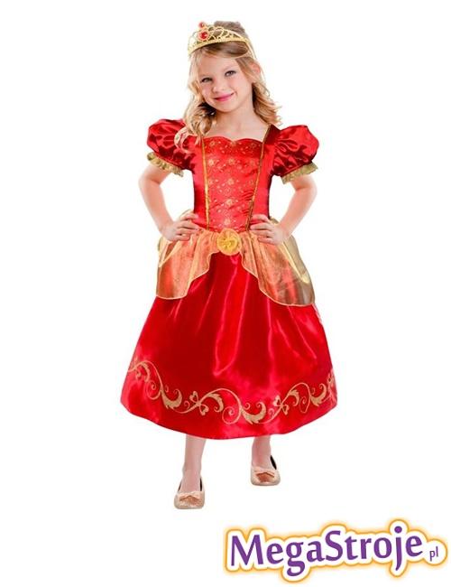 Kostium dziecięcy Księżniczka czerwono-złota
