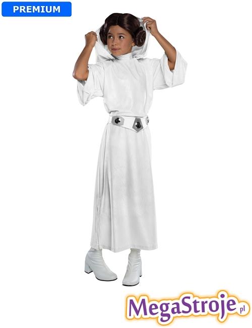 Kostium dziecięcy Księżniczka Leia lux