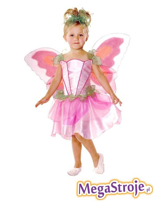 Kostium dziecięcy Motylek różowy