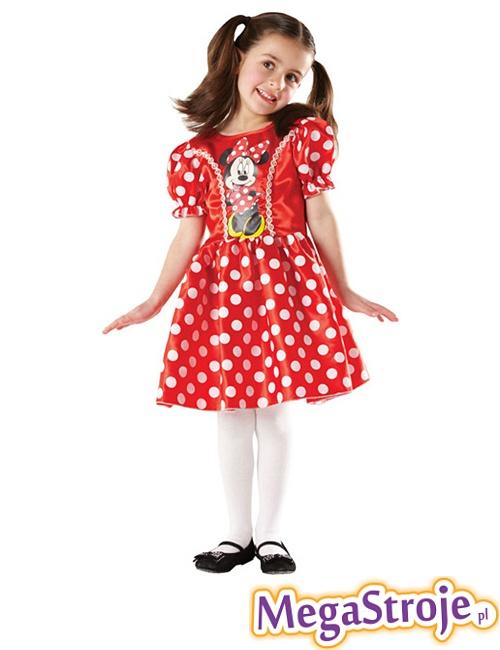 Kostium dziecięcy Myszka Minnie Disney czerwony