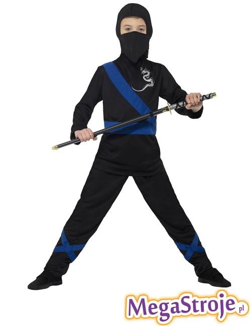 Kostium dziecięcy Ninja czarno-niebieski