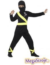 Kostium dziecięcy Ninja czarno-złoty