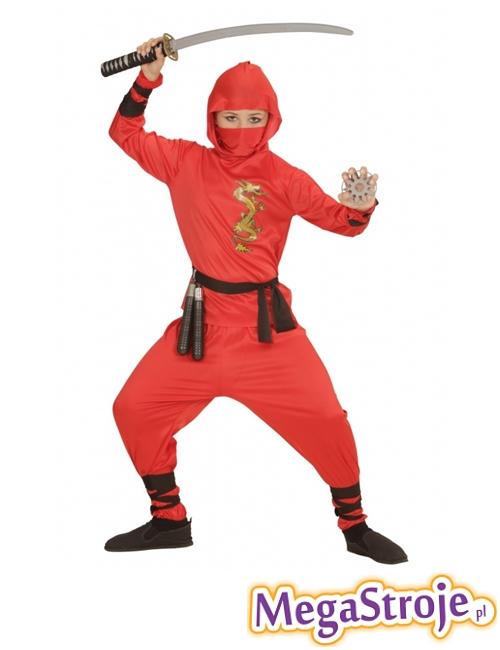 Kostium dziecięcy Ninja czerwony