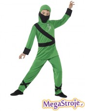 Kostium dziecięcy Ninja zielono-czarny