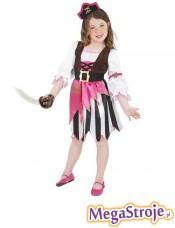 Kostium dziecięcy Piratka różowa
