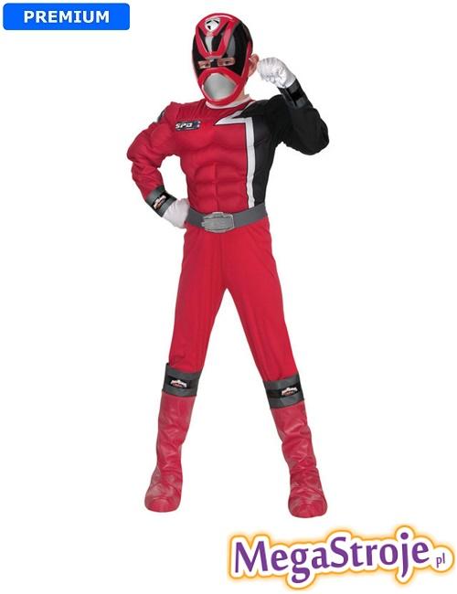 Kostium dziecięcy Power Ranger czerwony