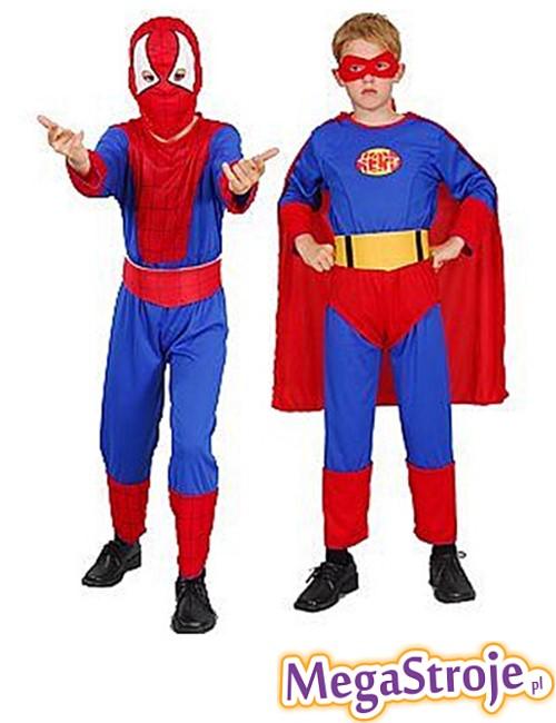 Kostium dziecięcy Spiderman i Superman 2w1