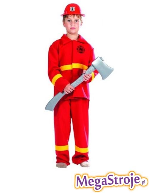 Kostium dziecięcy Strażaka czerwony