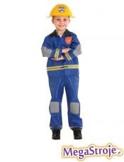 Kostium dziecięcy Strażaka niebieski
