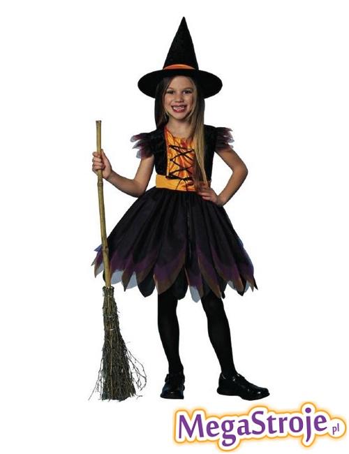 Kostium dziecięcy Wiedźma czarno-złota