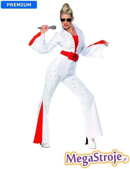 Kostium Dziewczyna Elvisa biały