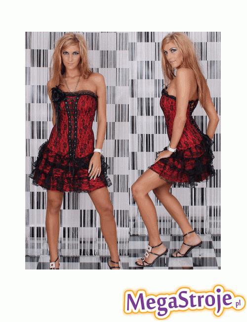 Kostium Dziewczyna Flamenco - czerwona