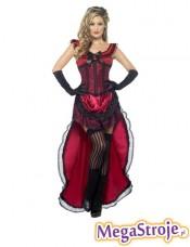 Kostium Dziewczyna z saloonu czerwona