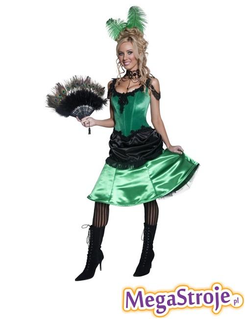 Kostium Dziewczyna z saloonu zielona