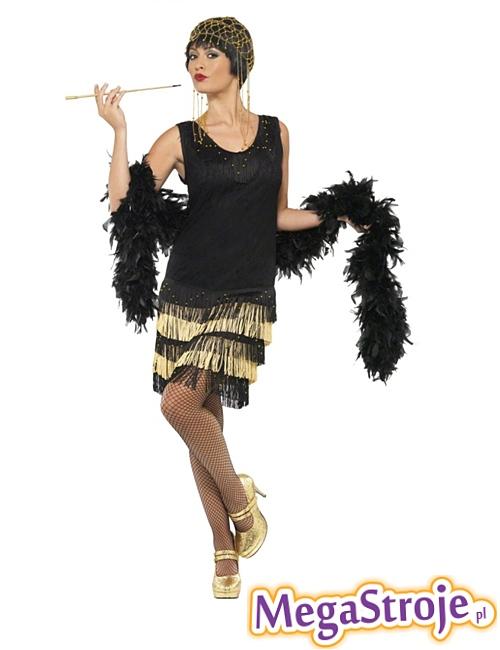 Kostium Flapper czarno-złoty