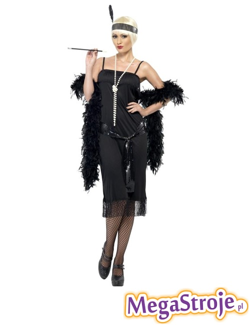 Kostium Flapper czarny
