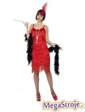 Kostium Flapper czerwony