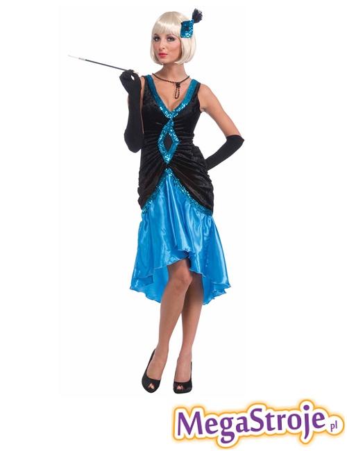 Kostium Flapper niebieski