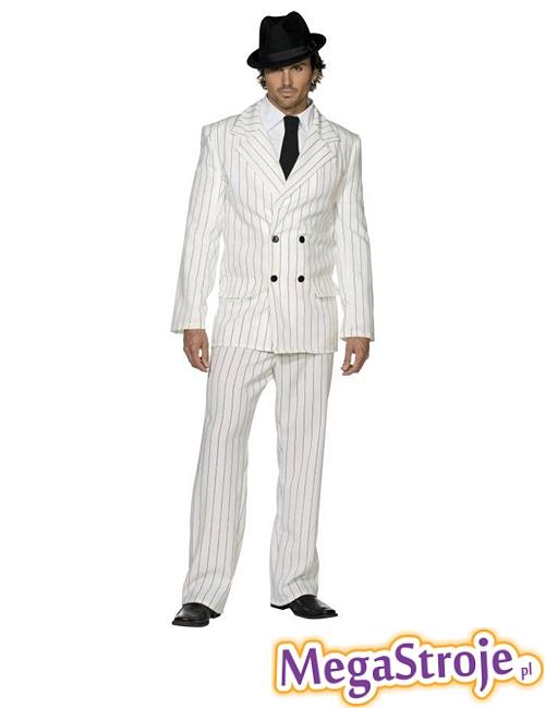 Kostium Gangster biały