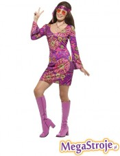 Kostium Hippie Girl różowy