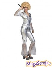 Kostium Kobieta Disco srebrny