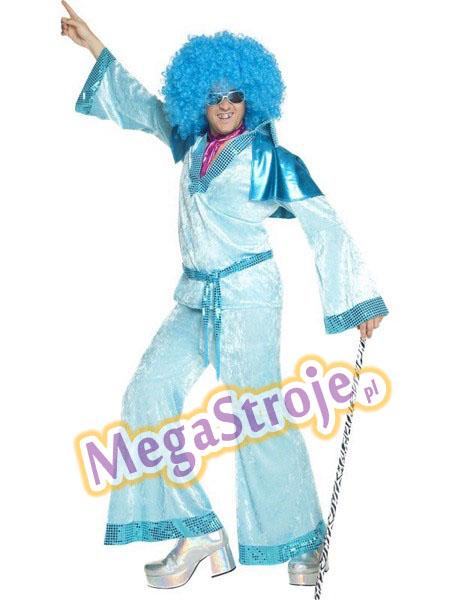 Kostium Król Disco niebieski