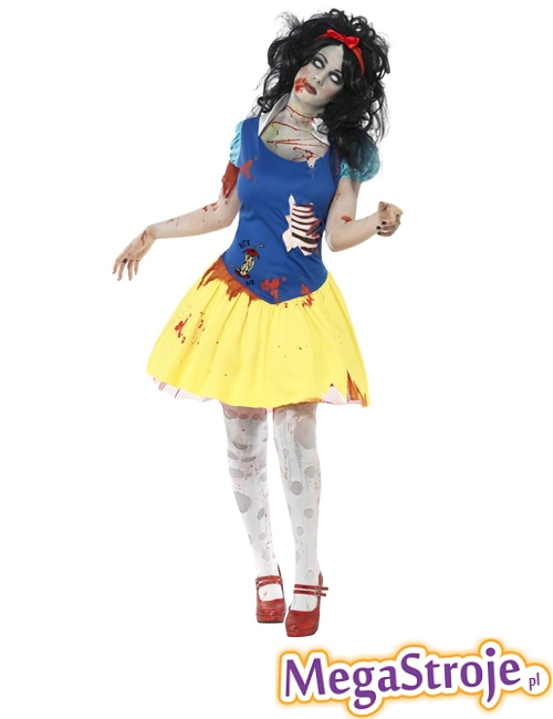 Kostium Królewna Śnieżka zombie