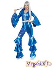 Kostium Królowa Parkietu niebieska