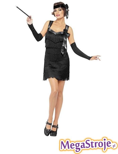 Kostium Sexy Flapper czarny
