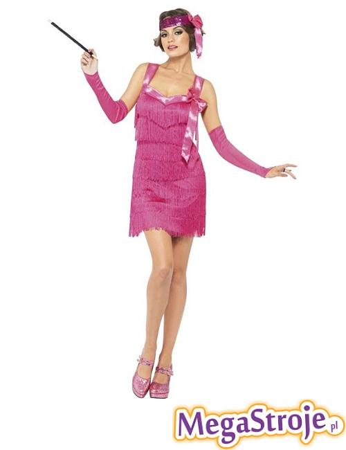 Kostium Sexy Flapper róż