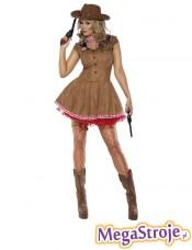 Kostium Sexy Kowbojka brązowa