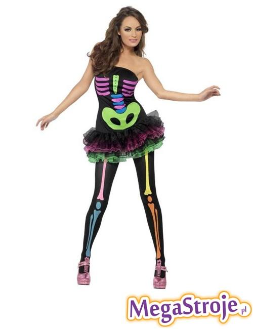 Kostium Sexy Neonowy Szkielet