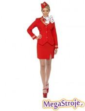 Kostium Stewardessa czerwona