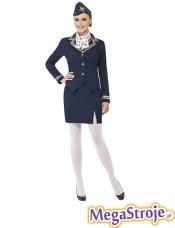 Kostium Stewardessa granatowa