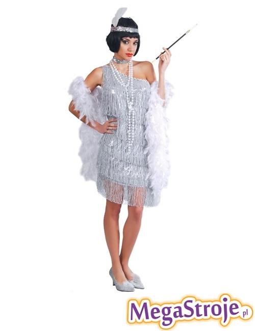 Kostium Tancerka Charleston srebrny