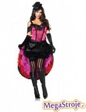 Kostium Tancerka z saloonu różowa